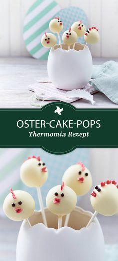 Fast zu niedlich zum Vernaschen! Die kleinen Hühnchen sind süß in jeder Hinsicht... Das Thermomix ® Rezept findet Ihr im Thermomix ® Rezept-Portal www.cookidoo.de als Oster-Cake-Pops.
