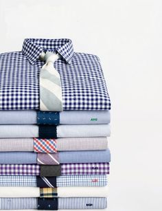 Shirt and tie combinations.