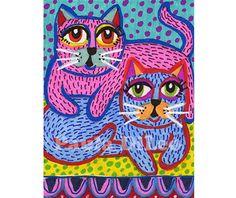 Cat Print Cat Room Decor Girl Nursery Room by AGirlAnOwlAndACat, $9.00