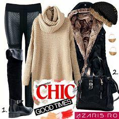 Winter Chic!!! 1. Cizme din piele naturala cu manseta --> http://www.azaris.ro/cumpara/cizme-casual-cu-manseta-7728428 2. Geanta casual cu buzunar extern --> http://www.azaris.ro/cumpara/geanta-casual-cu-buzunar-extern-7447202