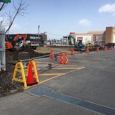 工事中の発寒イオン駐車場