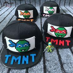 Lego Hat, Cool Baseball Caps, Cartoon Man, Block Design, Fashion Hats, Tmnt, Bricks, Diy Design, Hip Hop