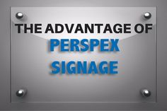 Perspex is an excellent form of canvas which allows the manufacturer to create various unique signs. The customers can too express their creativity through the material and use it for different applications. Perspex signage is a mixture of professionalism and distinctive advertisement.