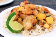 Spicy Mango Shrimp Recipe ~ Can't wait to serve this to my in-laws, they will love it!  :)