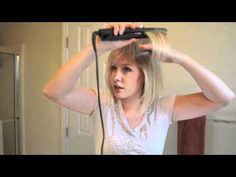 How to flat iron and get volume