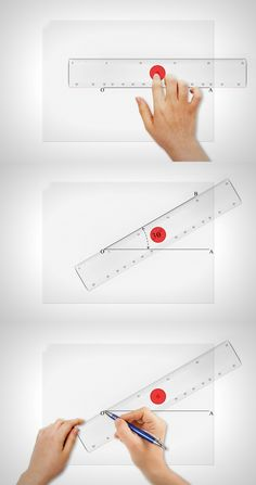 Why have a protractor when your scale can do the trick? Read more at Yanko…