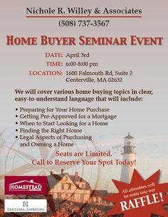 #RealEstate #HomeBuyer #Seminar #Flyer #Design #Branding