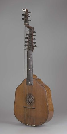 Arch-cittern (syron) : : made by Remerus Liessem, circa 1757, in London, England.