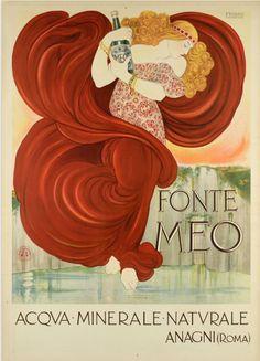 By Nonni Francesco, 1910,Fonte Meo, Acqua Minerale Naturale, Anagni (Roma). (I)