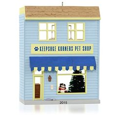 Hallmark QX9139 Keepsake Korners Pet Shop Ornament >>> This is an Amazon Affiliate link. Check out the image by visiting the link.