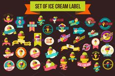Check out Set Of Ice Cream Label by Sabelskaya on Creative Market