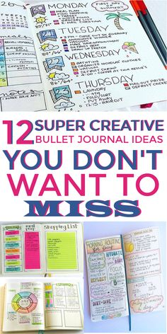 12 Bullet Journaling Ideas that Will Inspire Your Life This is EXACTLY what I wanted - amazing bullet journal page ideas! Great ideas for bujo daily layouts, bill trackers, meal planners, keys, and doodling ideas! Digital Bullet Journal, How To Bullet Journal, Bullet Journal Inspo, Bullet Journal Spread, Bullet Journal Ideas Pages, Journal Pages, Bullet Journals, Bullet Journal For Teachers, How To Journal