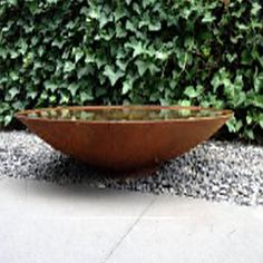 Corten steel water bowl