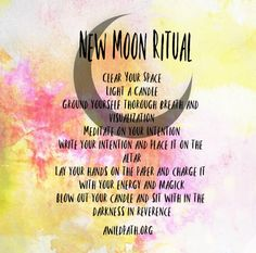 Use this new moon ritual from Ana at A Wild Path moon phases New Moon Rituals, Full Moon Ritual, Tarot, Affirmations, Reiki, Moon Circle, Moon Spells, Magick Spells, Wicca Witchcraft