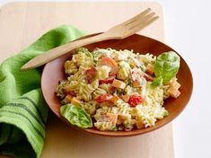 Get Kid Friendly Pasta Salad Recipe from Food Network.. it was just ok. Tasted like it was missing something