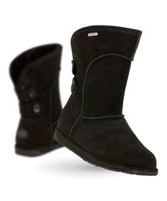This Black Charlotte Suede Boot - Women is perfect! #zulilyfinds