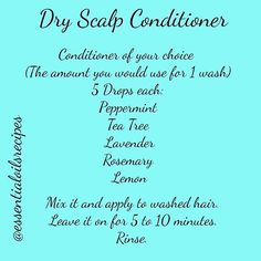 You can also add a few drops of Fractionated Coconut Oil to this recipe. This recipe really took care of my flaky scalp. I've had problems with dry scalp and in the last few weeks I tried something new. I needed something stronger than the last recipe i p Young Living Oils, Young Living Essential Oils, Essential Oil Blends, Essential Oil Dry Scalp, Coconut Oil Hair Mask, Coconut Oil For Skin, Dry Scalp Coconut Oil, Dry Flaky Scalp, Itchy Scalp