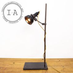 Vintage Industrial Singer Sewing Lamp Chemistry Lab Stand Small Desk Work Light | eBay