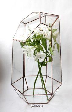Флорариум Орхидариум. Геометрический флорариум, высота 45 см