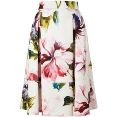 Phase Eight Botanical Scuba Skirt (7,555 MKD) ❤ liked on Polyvore featuring skirts, women, floral knee length skirt, knee length a line skirt, floral a line skirt, floral print a-line skirt and a line skirt