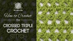 How to Crochet the Shell Network Stitch. For written instructions and photos please visit: . This video crochet tutorial will help you learn how to crochet the shell network stitch. This stitch creates a lacy looking network of she Triple Crochet Stitch, Crochet Cross, Double Crochet, Knit Crochet, Free Crochet, Crochet Scarfs, Easy Crochet, Crochet Stitches Patterns, Knitting Stitches