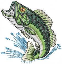 Small Bass embroidery design