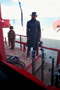 skeletoncowboy: Clint Eastwood on the set of High Plains Drifter by Douglas…