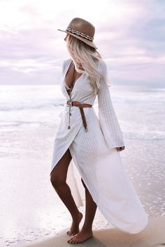 Photography – Bobby Bense | Helen Janneson Bense Model/Creative Direction – Helen Janneson Bense Location – City Beach, WA   Outfit Details Wrap Dress White | Wrap Dress Maxi  Cream | Higher Zip Boots – Marho Jacket – Boda Skins Jewelry – Bindi Wrap Choker (black + camel) | Warrior Necklace | Iggy Bralette Rings – …