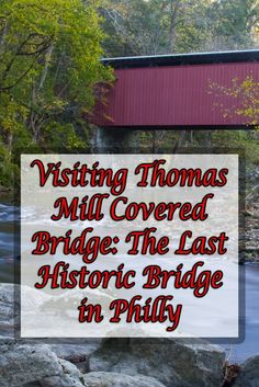 Thomas Mill Covered Bridge in Philadelphia's Wissahickon Gorge is the last remaining covered bridge in a major US city: http://uncoveringpa.com/how-to-get-to-the-covered-bridge-in-philadelphia-pennsylvania #Pennsylvania