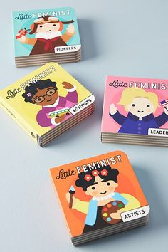 A set of 4 hard board books. By Mudpuppy available online.