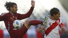 Perú vs. Venezuela: Paolo Guerrero y Oswaldo Vizcarrondo se vuelven a enfrentar. June 16, 2015.