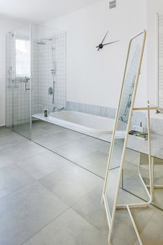 łazienka / bathroom by tatemono. Mirrors make bathroom more elegant and spacious. Mirrors, Shelves, Stone, Bathroom, Elegant, Home Decor, Washroom, Classy, Shelving