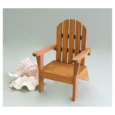 Doll Chair Miniature Chair 1 6 Scale Miniature Furniture Doll Furniture Fairy Garden Chair Playscale Wood Chair Toy Chair Beach Adirondack ($11) found on Polyvore