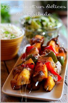 les milles & un délices de ~lexibule~: ~Brochettes de porc grillé~