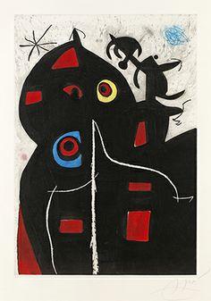 """Joan Miró.Grabado al Aguafuerte, Aguatinta y Carborundum.""""Patagruel"""".1978.137 x 96.5 cm. Tirada de 50 ejemplares. Dupin 995. Certificado por Maeght. Precio: 24.000 €"""