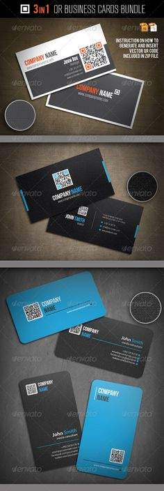 3-In-1 QR Business Cards Bundle