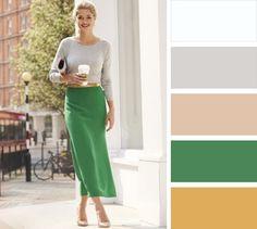 Το γκρι δεν είναι απαραίτητα ένα βαρετό φόρεμα αλλά είναι ιδανικό για το γραφείου μα χωρίς να το φοράτε από πάνω μέχρι κάτω. Συνδυάζεται υπέροχα με το πράσινο (κάθε απόχρωση του, από τη μέντα ως το λαδί).