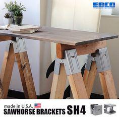 エブコ ソーホース ブラケット EBCO Sawhorse Brackets[SH4] Sawhorse Brackets, Plywood, Woodworking Projects, Graduation, Desk, Furniture, Home Decor, Hardwood Plywood, Desktop