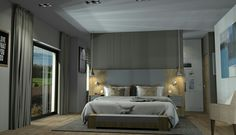 Creation d'un interieur 3d style moderne chaleureux. Interior design 3d creation. www.passionnement-meuble.com