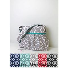 Stella Diaper Bag Medium CUSTOM Quatrefoil by marandalee on Etsy