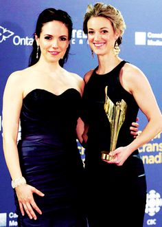 Anna Silk and Zoie Palmer Lost Girl, Kris Holden Ried, Bo And Lauren, Anna Silk, Canadian Actresses, Tv Couples, Dark Matter, Strapless Dress Formal, Movie Tv