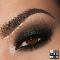 3. Smokey Eye for Brown Eyes - 42 Gorgeous Eye Makeup Looks to Try ... → Beauty