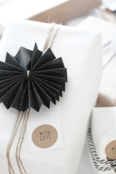 Elegant but simple wrapping ideas from Scandinavia.