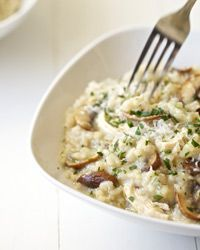 Mushroom and Chicken Risotto Recipe // pretty delicious! I used more onion than the recipe called for, as well as extra parm. :) -T