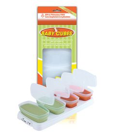 Look at this #zulilyfind! 4-Oz. Baby Cubes Set by Petite Creations #zulilyfinds