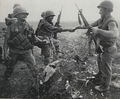 -----Operation Pegasus------ in Mach,1968,US Marine, 1st Div.of Air strike team and S.Vietnam Task Force enforced groop operated for break out completely encircled Marine inside the KSCB. At first,US Marine garrison started from 6,000 to total 45,000 troops after Op. Pegasus.
