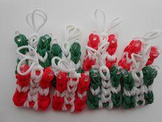 Rainbow Loom Rubber Band Christmas Presents Set of Eight.
