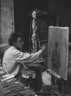 The boy who couldn't stop dreaming — inneroptics: Alberto Giacometti - Ernst. Alberto Giacometti, Moving To Paris, Italian Artist, Great Pictures, All Art, Statue, Painting, Image, Modern