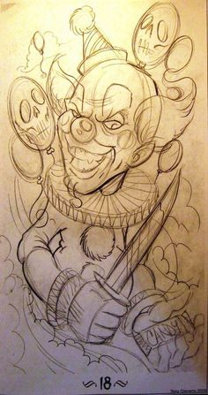 really cool drawings Tattoo Sketches, Tattoo Drawings, Cool Drawings, Drawing Sketches, Graffiti Drawing, Graffiti Art, Evil Clown Tattoos, Dibujos Tattoo, Prison Art