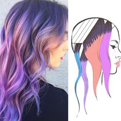 These 6 Hair Painting Diagrams Show You Exactly How to Get Color Like This - Behindthechair.com